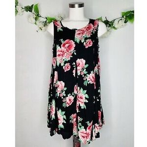 Altar'd State Rose Floral Sleeveless Tunic Dress
